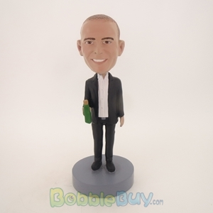 Picture of Business Man With Wine Bobblehead