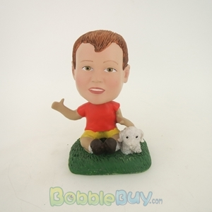 Picture of Boy And Puppy Bobblehead
