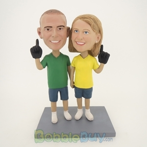 Picture of Hand In Hand Baseball Fun Couple Bobblehead