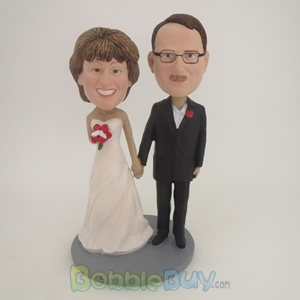 Picture of Hand In Hand Wedding Couple Bobblehead