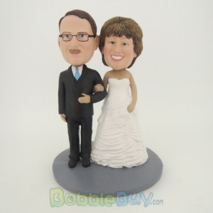 Picture of Happy Arms Linked Man and Woman Bobblehead