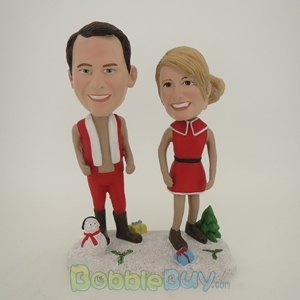 Picture of Happy Christmas Couple Bobblehead