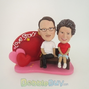 Picture of Love Story Couple Bobblehead