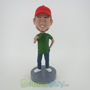 Picture of Casual Man In Red Hat Bobblehead