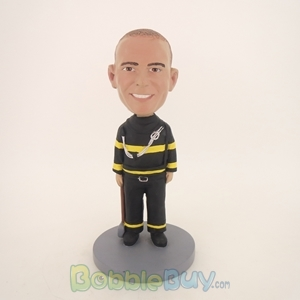 Picture of Fireman Holding Hammer Bobblehead