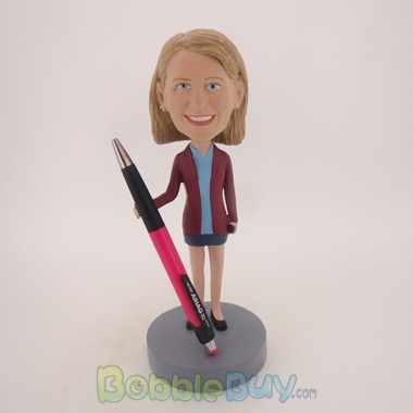 Picture of Brown Suit Girl Bobblehead