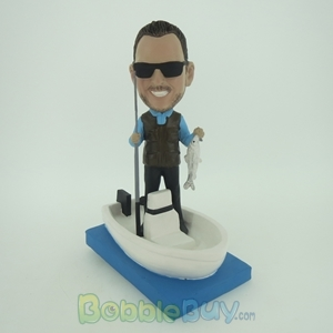 Picture of Fisher Man In Boat Bobblehead