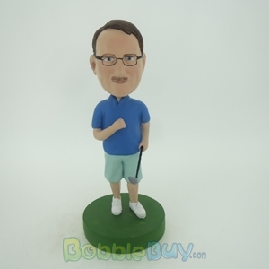 Picture of Casual Man With Golf Club Bobblehead