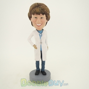 Picture of Female Doctor with White Gown Bobblehead