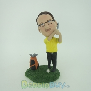 Picture of Golfer Man With Club Bobblehead