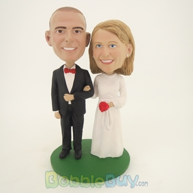 Picture of Take My Arm Bride And Groom Bobblehead