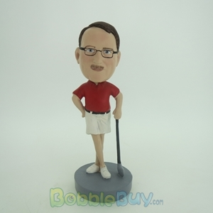 Picture of Leaning On Club Golfer Bobblehead