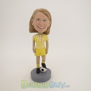 Picture of Female Soccer Player Bobblehead