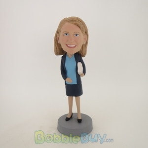 Picture of Female Teacher with Book Bobblehead