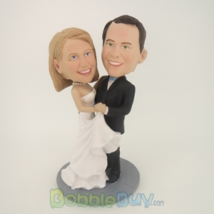 Picture of Wedding Couple Holding Each Other  Bobblehead