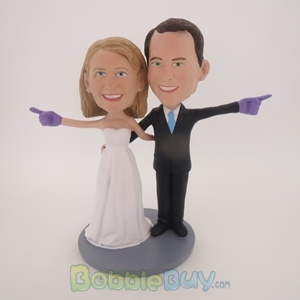 Picture of We're Number One Wedding Couple Bobblehead