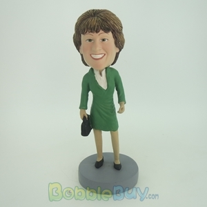 Picture of Green Dress Woman Bobblehead