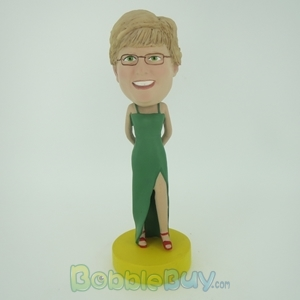 Picture of Green Longuette Woman Bobblehead