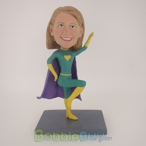 Picture of Green Super Girl Bobblehead