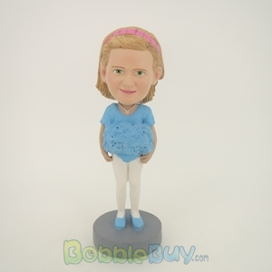 Picture of Light Blue Clothes Girl Bobblehead