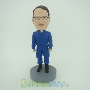 Picture of Man In Blue Uniform Bobblehead