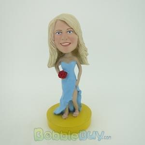Picture of Light Blue Wedding Girl Bobblehead
