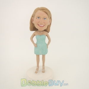 Picture of Light Full Dress Girl Bobblehead