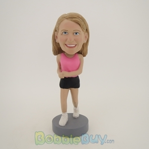 Picture of Pink Jogging Girl Bobblehead