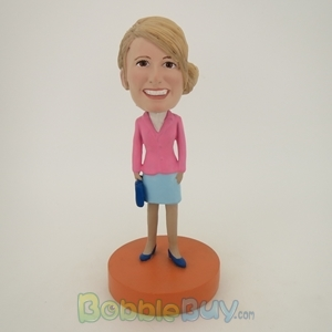 Picture of Pink Suit Woman Bobblehead