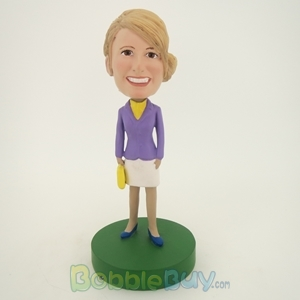 Picture of Purple Suit Girl Bobblehead