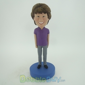 Picture of Purple Suit Woman Bobblehead