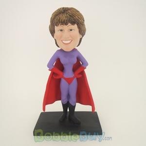 Picture of Purple Super Girl Bobblehead