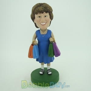 Picture of Shopping Woman Bobblehead