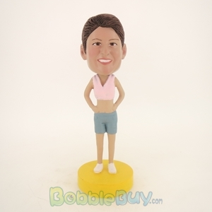 Picture of Short Vest Woman Bobblehead
