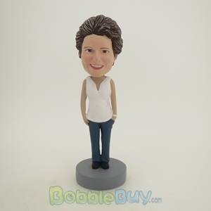 Picture of White Clothes Mother Bobblehead