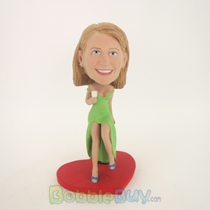 Picture of Drinking Woman Bobblehead
