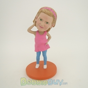 Picture of Pink Dress Girl Bobblehead
