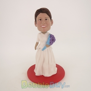 Picture of White Wedding Dress Woman Bobblehead