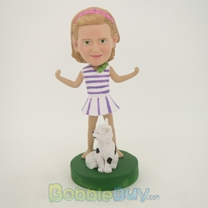 Picture of Girl and Cat Bobblehead