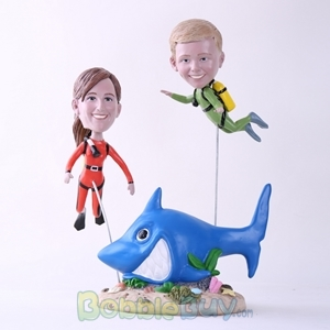 Picture of Scuba Diving Mother & Son Bobblehead