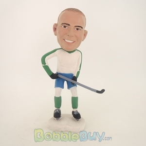 Picture of Hockey Playing Man With Stick Bobblehead