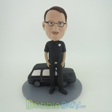 Picture of Man & Black Car Bobblehead