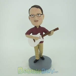 Picture of Male With Acoustic Guitar Bobblehead
