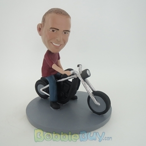Picture of Man Riding Motorcycle Bobblehead