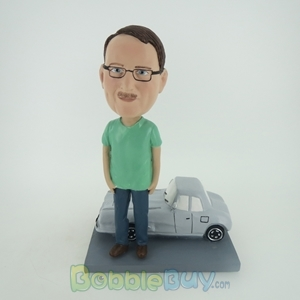 Picture of Man With Car Bobblehead