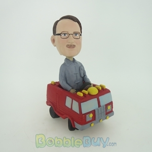 Picture of Man In Fire Truck Bobblehead