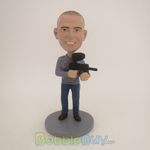 Picture of Man With Machine Gun Bobblehead
