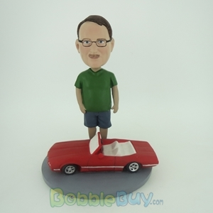 Picture of Man With Sports Car Bobblehead