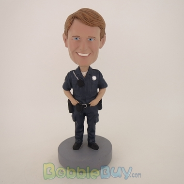 Picture of Police Officer With Walkie Talkie Bobblehead