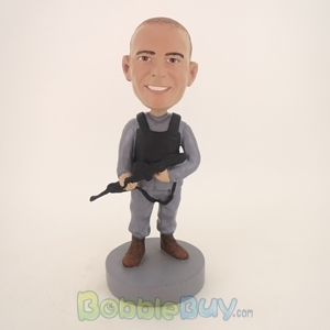 Picture of Police With Machine Gun Bobblehead
